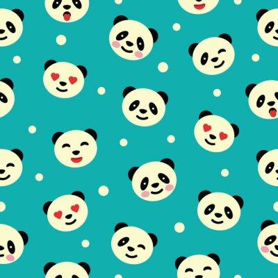 Fototapet Seamless panda. Vektor illustration.