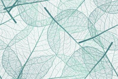 Fototapet Seamless pattern with leaves veins. Vector illustration.