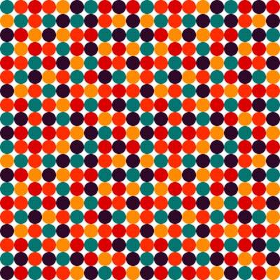 Fototapet Seamless polka dot vektor mönster