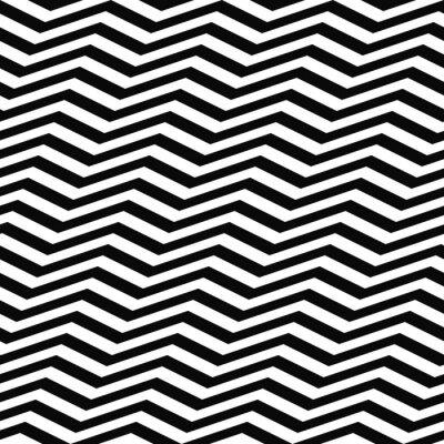Fototapet Seamless svart vit sparremönster