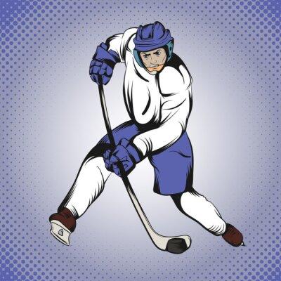 Fototapet Serier hockeyspelare