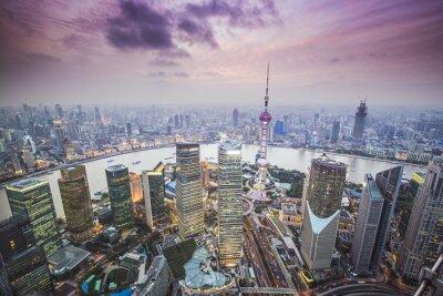 Fototapet Shanghai, Kina Flygbild