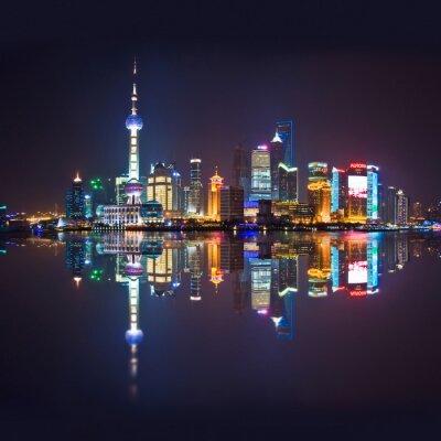 Fototapet Shanghai skyline, carré
