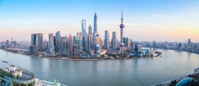 Fototapet shanghai skyline utsikt