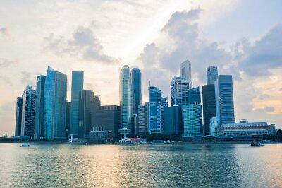 Fototapet Singapore affärs cener