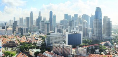 Fototapet Singapore horisont