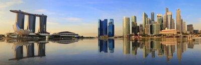 Fototapet Singapore panorama horisont på morgonen