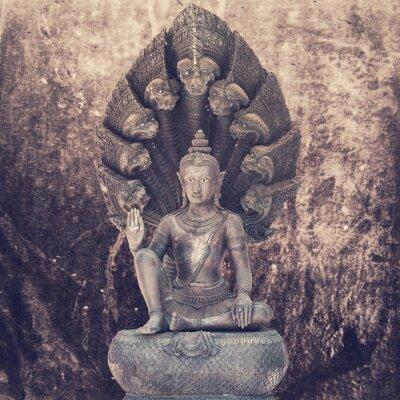 Fototapet Sittande buddha staty