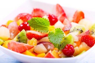 Fototapet skål med fruktsallad