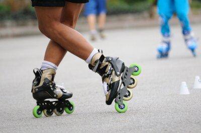 Fototapet Skater stående stå för utbildning, sport åtgärder.
