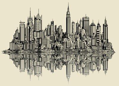 Fototapet skiss av new york
