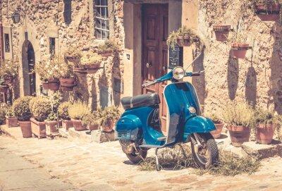 Fototapet Skoter i Toscana