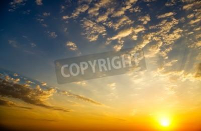 Fototapet Sky bakgrund på soluppgången Nature sammansättning