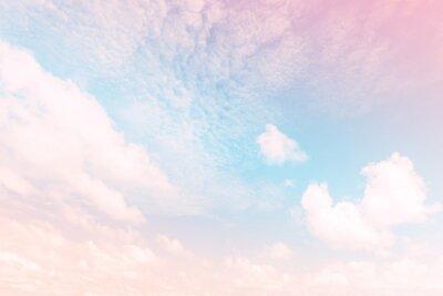Fototapet Sky med en pastellfärgad lutning