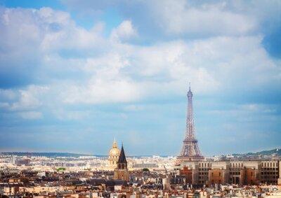 Fototapet skyline Paris med Eiffeltornet