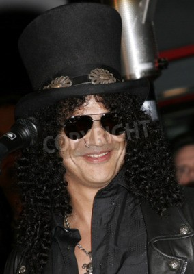 Fototapet Slash, Ronnie James Dio och Terry Bozzio Inleddes i Hollywoods RockWalk hölls på Hollywoods gitarrcenter RockWalk i Hollywood, USA den 17 januari 2007.
