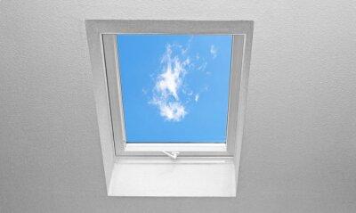 Fototapet Sluttande tak med fönster