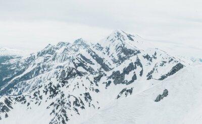 Fototapet snötäckta berg
