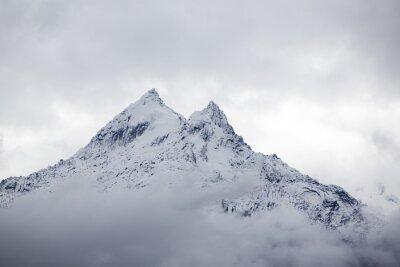 Fototapet Snötäckta bergstopp i Cordillera Blanca, Peru