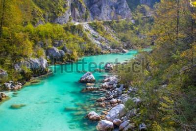 Fototapet Soca River i Slovenien, Europa