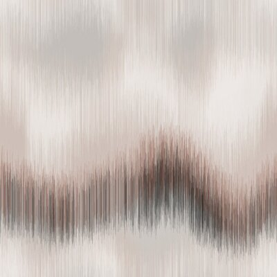 Fototapet Soft blurry ikat gradient ombre seamless repeat vector pattern in natural terra cotta desert colors. Abstract landscape, ancient weaving. Great for home decor, fashion, stationary. Generative art.