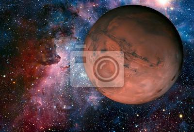 Fototapet Solar System - Mars. Det är den fjärde planeten från solen