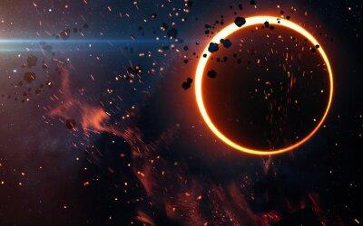 Fototapet Solförmörkelse Över en Nebula. Delar av denna bild som tillhandahålls av NASA