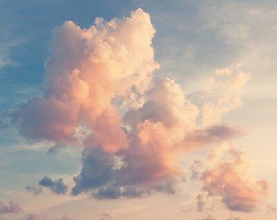 Fototapet Solig himmel bakgrund retro stil
