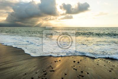 Fototapet Solnedgång Ocean Strålar