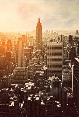 Fototapet Solnedgång på Manhattan