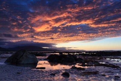 Fototapet Solnedgång på Shore Acre