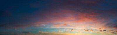 Fototapet solnedgång sky panorama