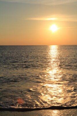 Fototapet Solnedgången på havet