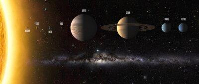 Fototapet Solsystemet planeter. Delar av denna bild som tillhandahålls av NASA