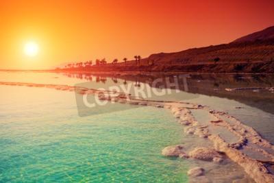 Fototapet Soluppgång över Döda havet.
