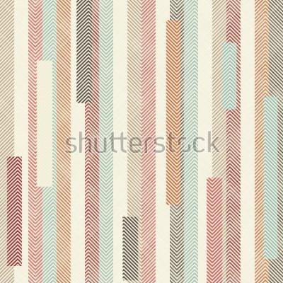 Fototapet Sömlös abstrakt färgstarkt randigt mönster. Ändlösa mönster kan använda för keramiska plattor, tapeter, linoleum, textil, webbsida bakgrund.