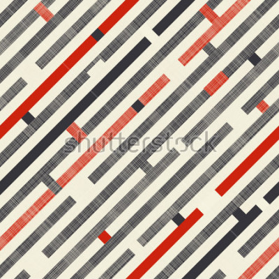 Fototapet Sömlös abstrakt mönster med diagonala ränder på texturbakgrund i retrofärger. Ändlösa mönster kan använda för keramiska plattor, tapeter, linoleum, textil, webbsida bakgrund.