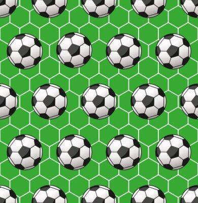 Fototapet sömlös fotboll mönster