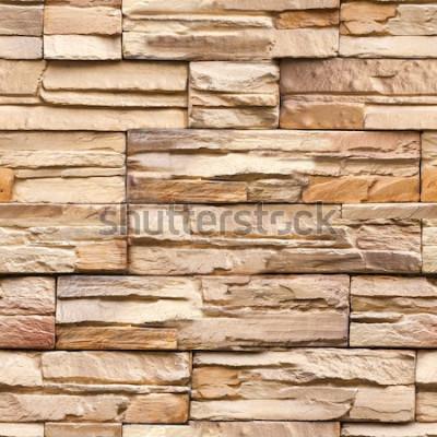 Fototapet sömlös stenväggstextur och bakgrund