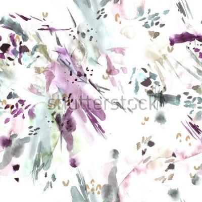 Fototapet Sömlöst mönster. Abstrakt vattenfärg bakgrund.