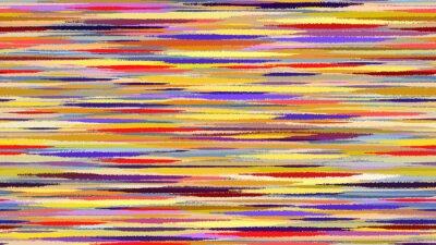 Fototapet Sommar abstrakt vattenfärg bakgrund. Rörelseoskärpa blå röd gul övergångslinjer. Digital bakgrund raster illustration.