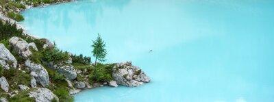 Fototapet Sorapis sjö, Dolomiterna berg
