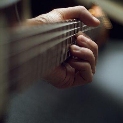 Fototapet spela elgitarr
