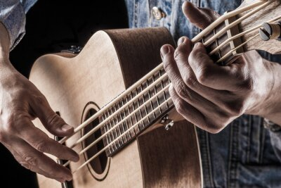Fototapet spela ukulele bas