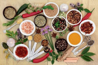 Fototapet Spice och Herb Collection