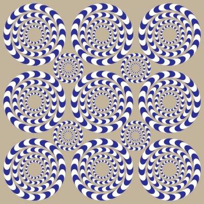 Fototapet Spin cirklar (illusion)