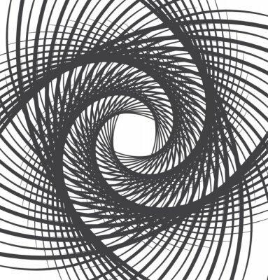 Fototapet spiral virvel abstrakt bakgrund svart och vitt