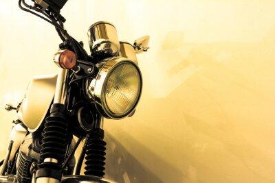 Fototapet Split toning vintage motorcykel