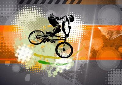 Fototapet Sport, BMX illustration