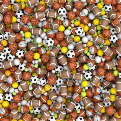 Fototapet Sport bollar på golvet